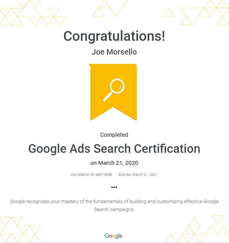 2020 Google Ads Certification