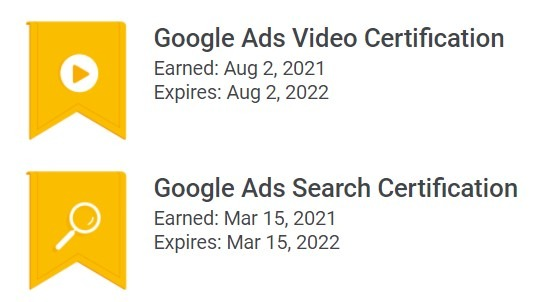 Google Ads Certifications Rithm Marketing PPC Certification 2